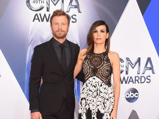 Singer Dierks Bentley and Cassidy Black attend the
