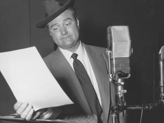 Red Skelton is seen during a 1952 radio appearance.