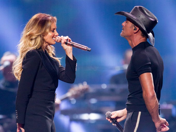 Faith Hill and Tim McGraw perform on July 20, 2018,