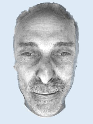 A rendering of the face of the man who was found dead along Third Creek Greenway in Knoxville on Oct. 16, 2017.