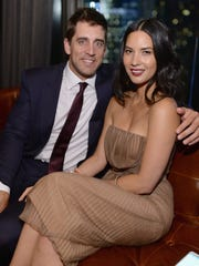 No. 17: Aaron Rodgers (with Olivia Munn)