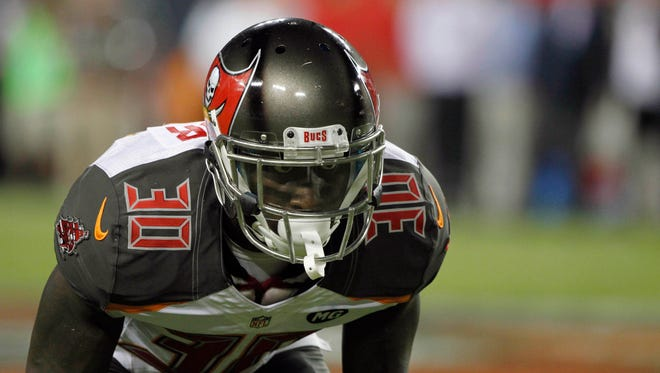Tampa Bay Buccaneers defensive back Anthony Gaitor (30) against the Miami Dolphins during the second half at Raymond James Stadium on Aug. 16, 2014.