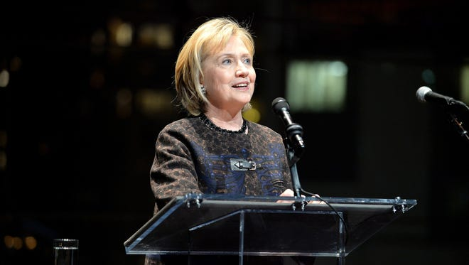 Former Secretary of State Hillary Clinton attends Malaria No More's International Honors Gala honoring Hilary Clinton on Nov. 11 in New York City.