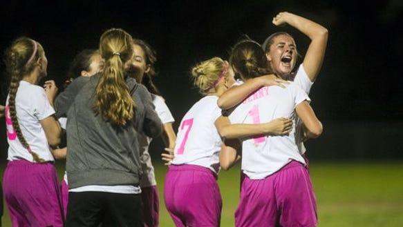 The Fairfield girls' soccer team tied for the YAIAA