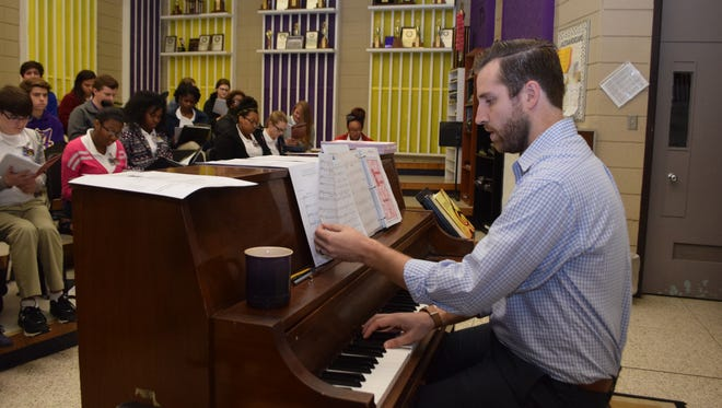 Alexandria Senior High School choral teacher Cameron Weatherford was one of four music educators from the state chosen for the Outstanding Young Music Educator Award.