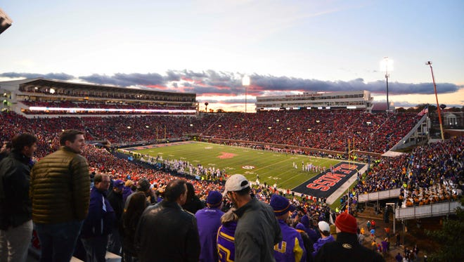 The sun sets as fans watch the action between Ole Miss and LSU during the third quarter of the game at Vaught-Hemingway Stadium. The Rebels could receive exemplary cooperation in its upcoming case in front of the committee on infractions.