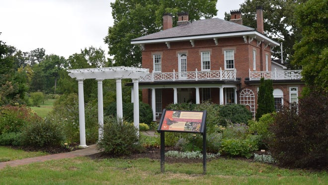 The Daweswood House Museum sits on the north end of Dawes Arboretum.