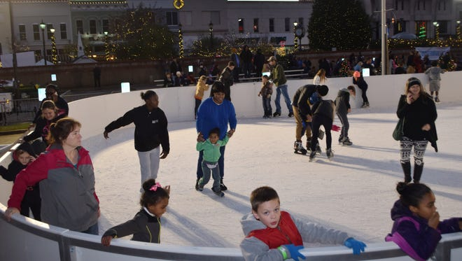 A skating rink built at Fulton Min-Park was a highlight of last year's Winter Fete.