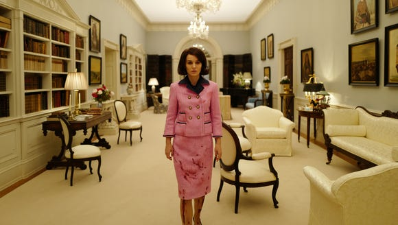 The first scene Portman shot in Kennedy's iconic pink