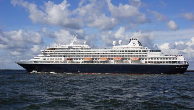 Holland America's 835-passenger Prinsendam.