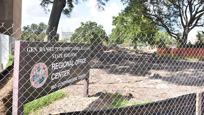"""The state has started soil sampling and surveying at the proposed site of a new Florida Department of Law Enforcement Regional Operations Center near the Gen. Daniel """"Chappie"""" JamesOffice Complex in downtown Pensacola."""