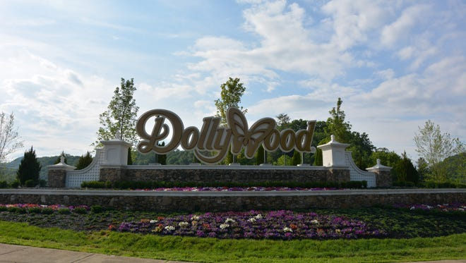 Dollywood's sign sits outside of the park on Veterans Boulevard in Pigeon Forge.
