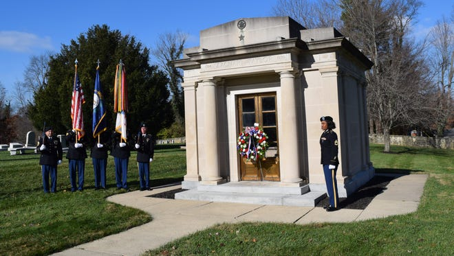 Color guard and laying of wreath on President Zachary Taylor's grave to commemorate his birthday is an annual ceremony conducted by the U. S. Army Executive Services from Ft. Knoxf each year on the day before Thanksgiving at the Zachary Taylor National Cemetery in Louisville.