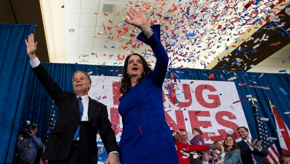 U.S. Senator elect Doug Jones greets supporters as