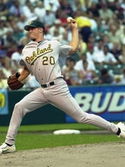 Mark Mulder made two AL All-Star teams as a member of the Oakland Athletics after being drafted as the No. 2 overall pick in the 1998 draft out of MSU. He was 81-42 with a 3.92 era in 150 starts over five seasons with the A's.