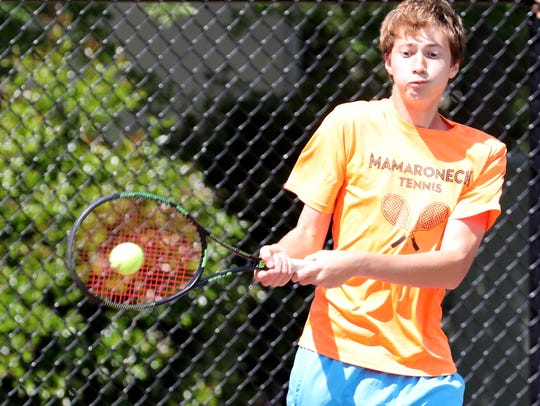 Mamaroneck High School tennis doubles sophomores Charlie