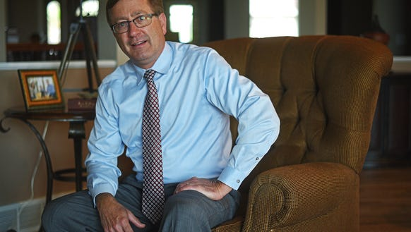 Sioux Falls Mayor Mike Huether poses for a portrait