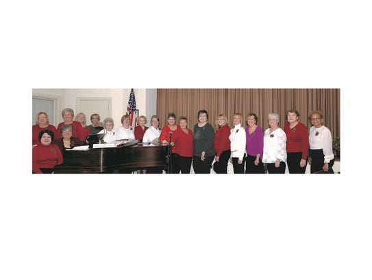 The Millville Woman's Club chorus assembles prior to