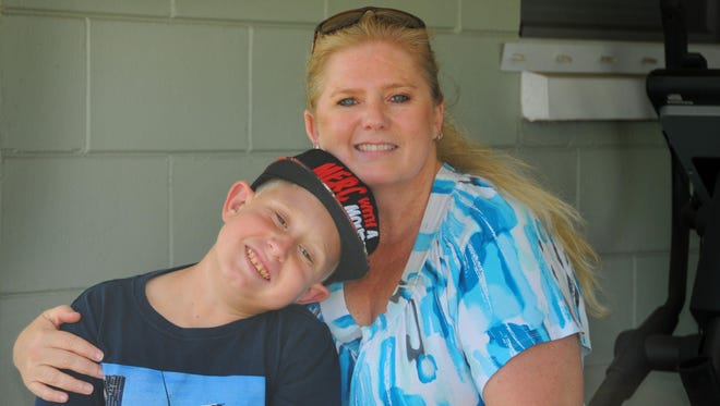 Two of the people who will be walking in the NKF Footprints in the Sand Kidney Walk on Saturday morning in Cocoa Beach are Traci Stiles and her son Blake Adams of Merritt Island. Blake, who is 11, has already had two kidney transplants, one in 2011 and another in 2015.