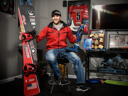 Mike Schultz, is preparing to compete in the 2018 Winter Paralympics in South Korea shown Friday, Dec. 22, in his shop.