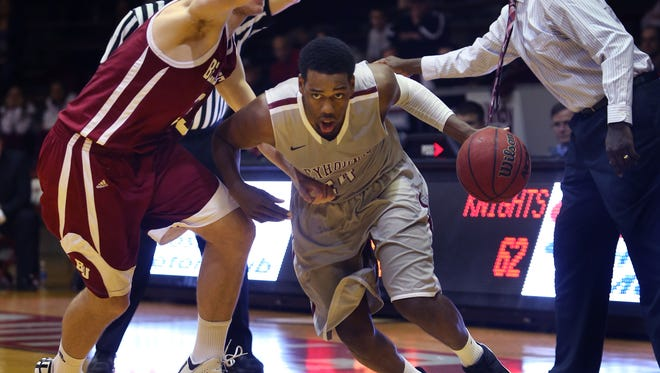 FILE – UIndy's Jordan Loyd, shown here last January, scored 21 points for the Greyhounds on Saturday.