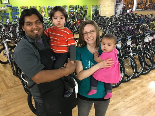 Shaun and Dawn Bhajan, owners of Hometown Bicycles