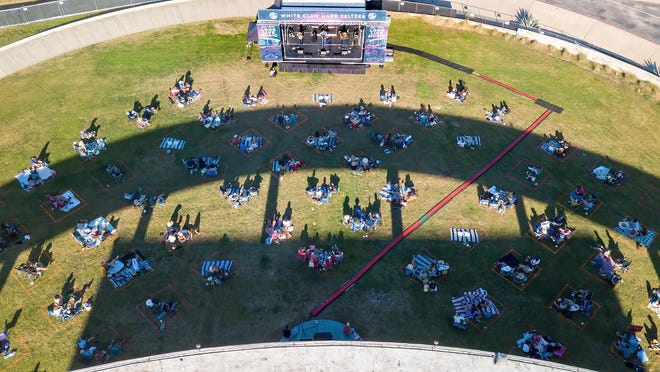 """The Long Center Lawn is the site of """"Long Live Music,"""" a series of four limited-attendance concerts in November and early December."""