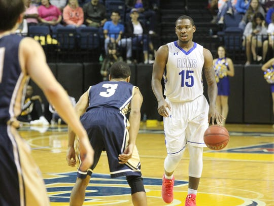 James Kirksey led the Angelo State University men's basketball team with 18 points in Saturday's 109-64 blowout against Dallas Christian College.