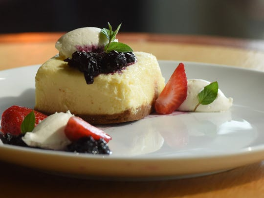 New York-style cheesecake, one of the dishes available at Crew Restaurant & Bar in the Town of Poughkeepsie.