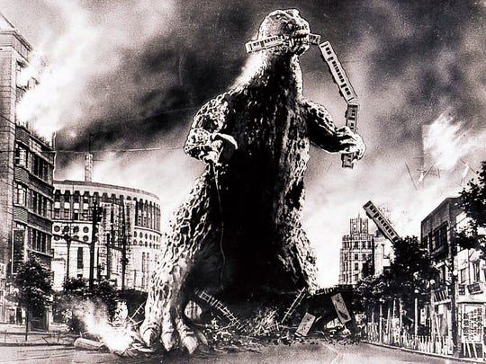 "The 1954 film ""Gojira"" introduced Godzilla to the world — and a classic design featuring a guy in a rubber suit."