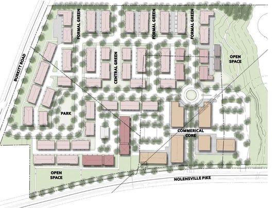A site map of Burkitt Commons.