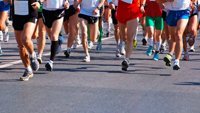 Runners at a Marathon