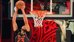 Western Conference forward Anthony Davis of the New