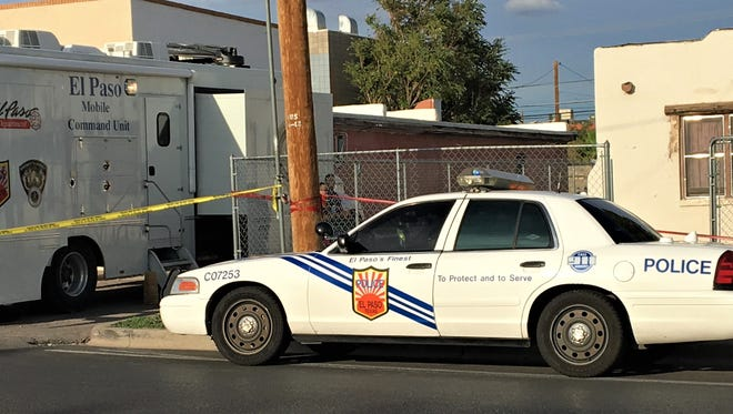 El Paso police investigate an assault Tuesday at a home in the 900 block of Raynolds Street.