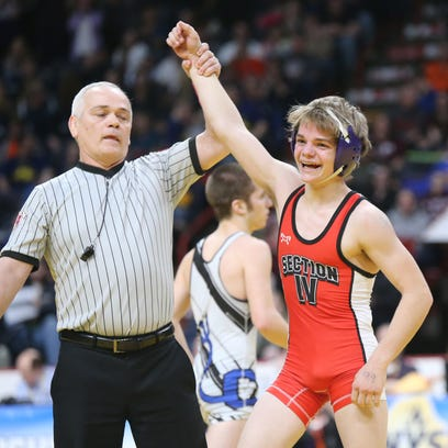 Norwich's Dante Geislinger wins the 99-pound Division