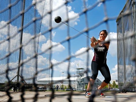 Missouri State Bears sophomore thrower Antonea Carson