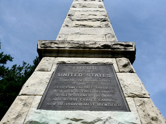 A Confederate Monument was erected by the U.S. government