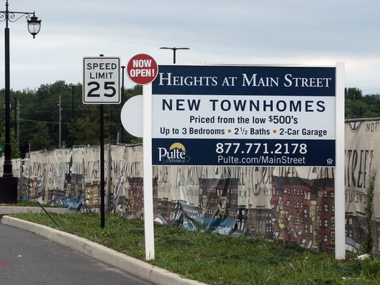 A new transit oriented village , Main Street North Brunswick, is being constructed in the township at 2300 Route 1 North. Also Pulte Homes is building the new town homes The Heights at Main Street at the site. Both are photographed on Tuesday August 2, 2016.