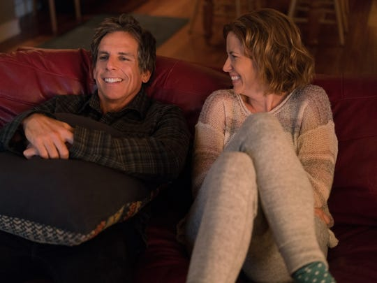 "In ""Brad's Status,"" Brad (Ben Stiller) and Melanie (Jenna Fischer) are happily married with a college-bound son."