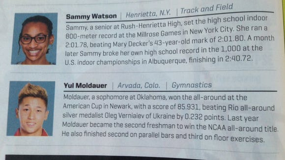 Rush-Henrietta senior track Sammy Watson was featured in the most recent edition of Sports Illustrated.