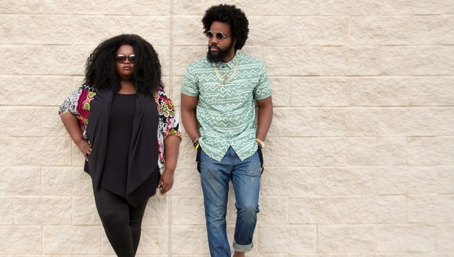 Tasha Henderson-Robinson and husband Dennis are partners and fashion designers for their bsuiness VonRay Designs.