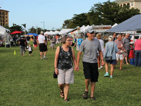 File: The Marco Island Farmer's Market at Veterans Community Park.