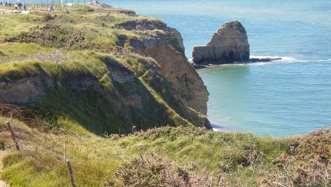 Point du Hoc at Utah Beach in Normandy, France is the hill that took many American soldiers' lives on D-Day.