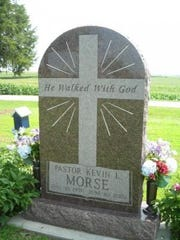 The Rev. Kevin Morse was buried at the Emerson Cemetery in Mills County, Iowa