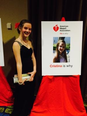 Cristina Cinca, 14, is celebrating a year since her life-saving heart transplant.