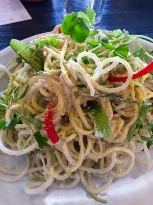 """Pad Thai"" from new vegan restaurant"