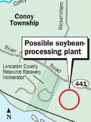 Perdue AgriBusiness plans to build a soybean processing plant in Conoy Township, Lancaster County.