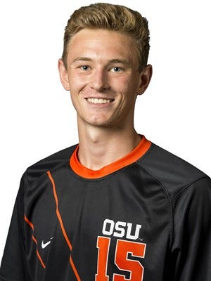 Oregon State soccer player John Chambers played in four games last season for the Beavers.