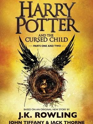 """Harry Potter and the Cursed Child"" is the continuing story of Harry and his son, Albus."