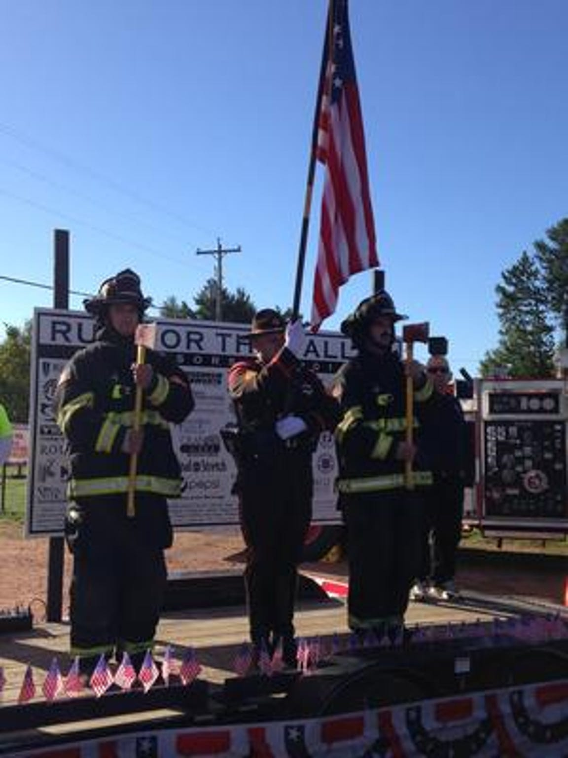 "The Kronenwetter Fire Department's ""Run for the Fallen"" honors those who have died in the line of duty."